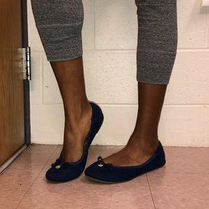Navy Flat Sandals